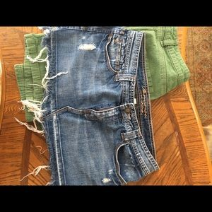Abercrombie &Fitch/Route66 Skirts - Lot of two denim skirts Abercrombie Route 66 sz 8